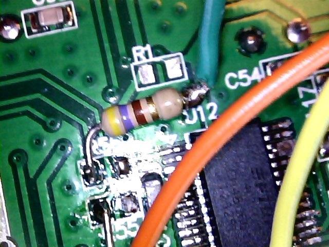 Fig 6 TXD mediante resistenza da 470 ohm