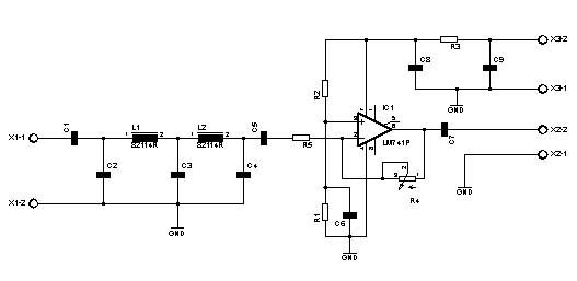 Preamplificatore d'antenna per VLF- LF - radioelementi on